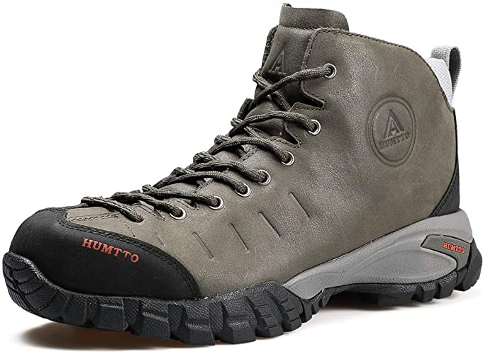 Amazon.com   Mens Hiking Boots Waterproof Leather Climbing Sports .