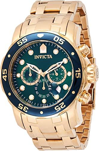 Amazon.com: Invicta Men's 0075 Pro Diver Chronograph 18k Gold .