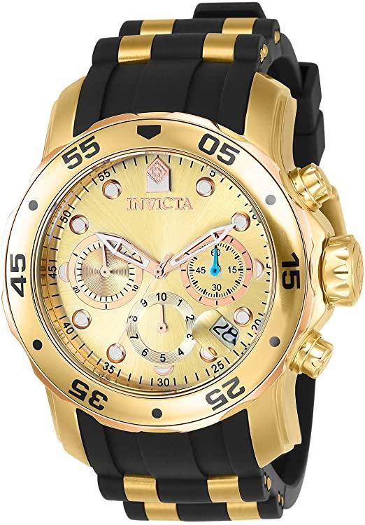 Amazon.com: Invicta Men's 17884 Pro Diver 18k Gold Ion-Plated .