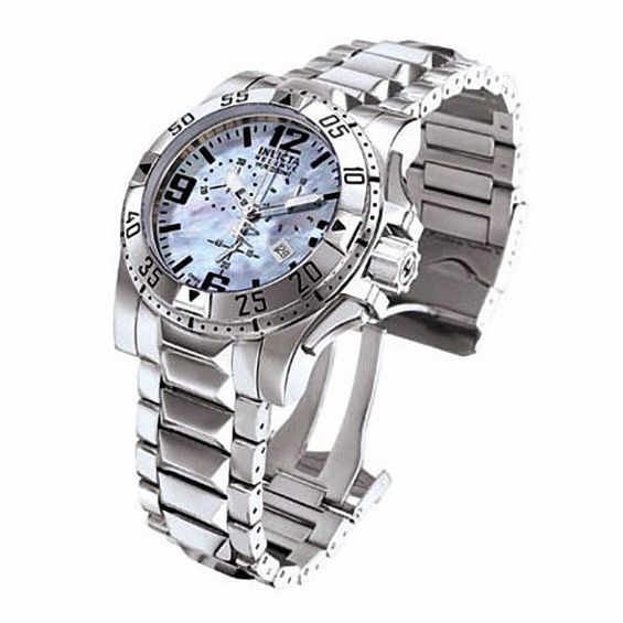 Men's Invicta Excursion Watch with Blue Mother-of-Pearl Dial .