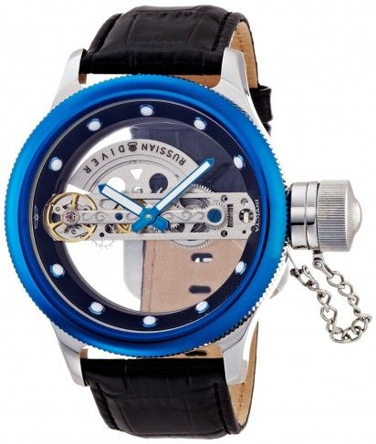 Invicta 14309 Russian Diver Ghost Blue Automatic Skeleton Watch .