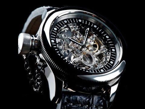 Invicta Watches Review : Invicta Russian Diver Skeleton Watch .