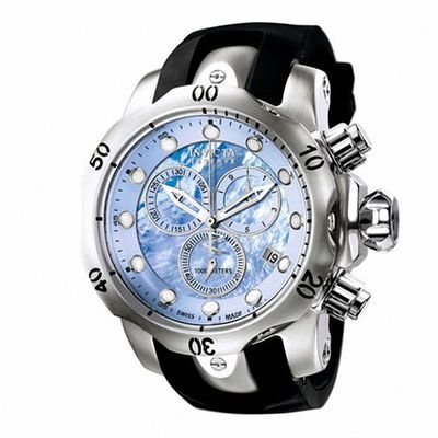 Men's Invicta Venom Chronograph Strap Watch with Blue Mother-of .