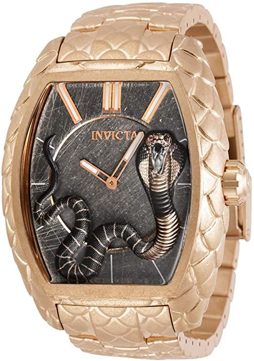 Amazon.com: Invicta Venom Cobra Quartz Grey Dial Men's Watch 28502 .