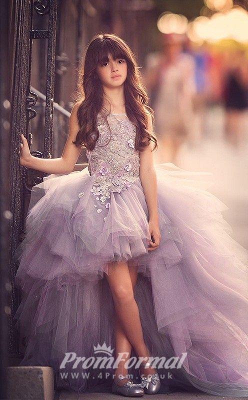 Princess Jewel Dark Lilac Kids Girls Dress CH0158 - 4prom.co.uk .