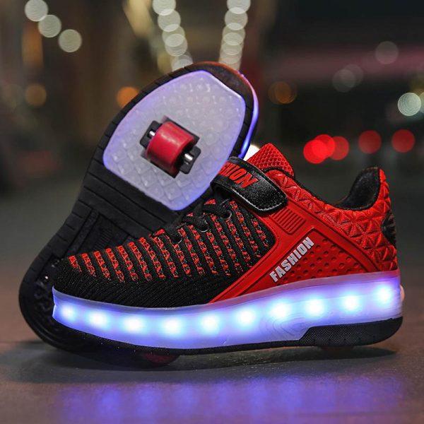 Roller Shoes Girls Boys Wheel Shoes Kids Roller Skates Shoes LED .