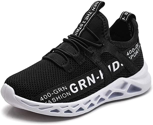 Amazon.com | GRN Kids Shoes Boys Girls Knit Sneakers Lightweight .
