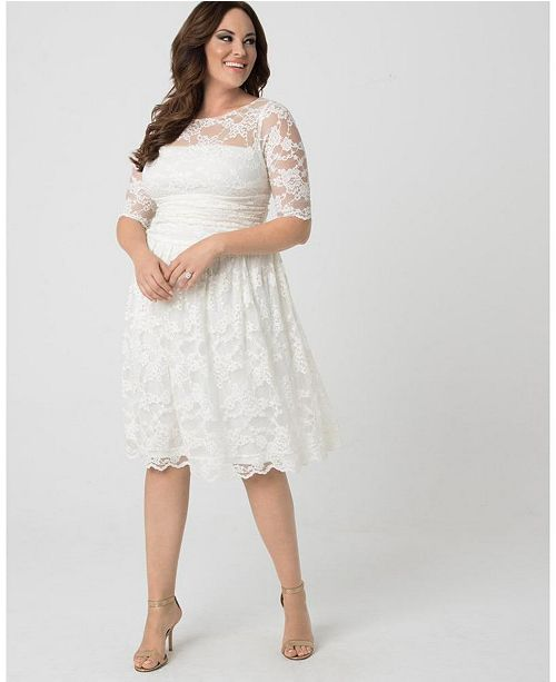 Kiyonna Women's Plus Size Aurora Lace Dress & Reviews - Dresses .