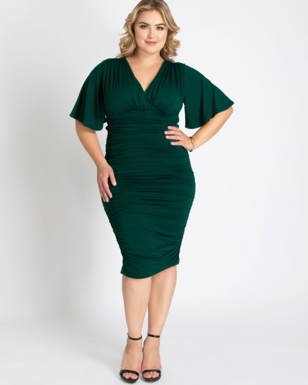 Plus Size Ruched Dress | Rumor Ruched Dress | Kiyon