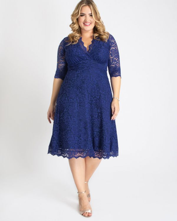 Plus Size Special Occasion Mademoiselle Lace Cocktail Dress | Kiyon