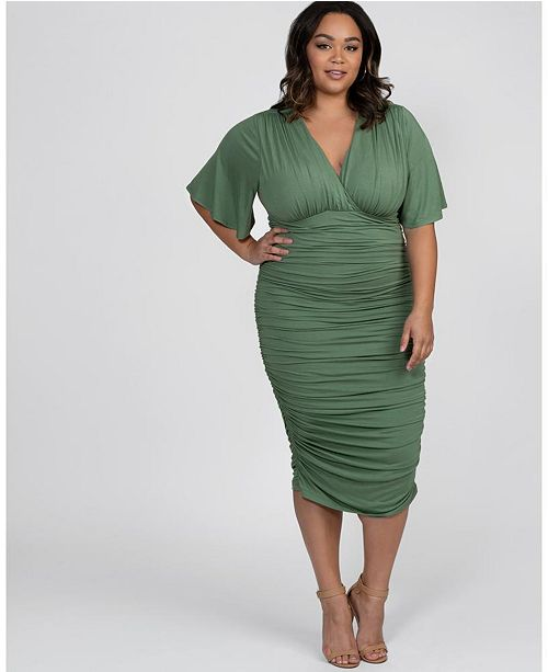 Kiyonna Women's Plus Size Rumor Ruched Dress & Reviews - Dresses .