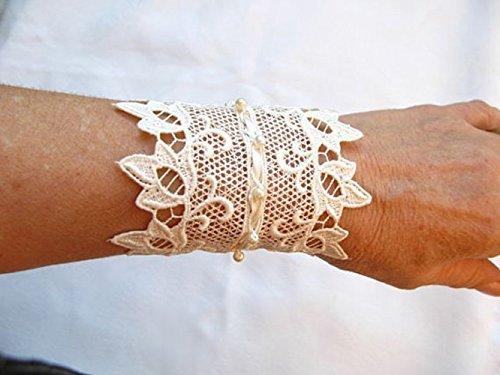 Amazon.com: OOAK---Bridal Cuff, Cuff Bracelet,Lace cuff,Lace .