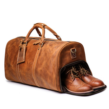 Leather Weekend Bag Overnight Carry On Luggage Duffle Mens Leather .