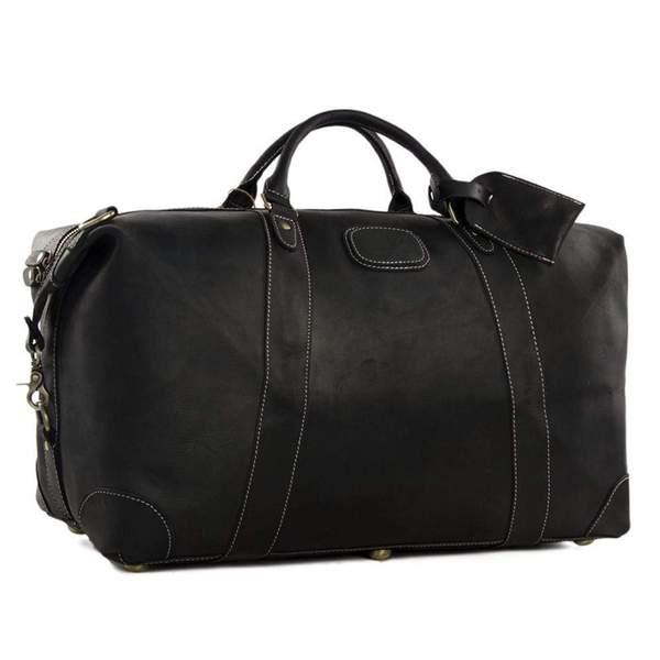 Vintage Leather Weekend Bag – Clove & Twi