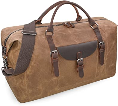Amazon.com | Oversized Travel Duffel Bag Waterproof Canvas Genuine .