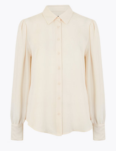 Puff Long Sleeve Shirt   Shirts   Marks and Spencer
