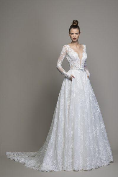 Long Sleeve Lace A-line Wedding Dress   Kleinfeld Brid