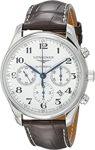 Amazon.com: Longines Master Chronograph Automatic Silver Dial Mens .