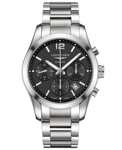 Longines Men's Swiss Automatic Chronograph Conquest Classic .