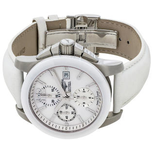 Longines Conquest Automatic Chronograph Steel & Ceramic Mens Watch .