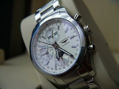 LONGINES Conquest Classic Moonphase AUTOMATIC Watch L2.798.4.72.6 .
