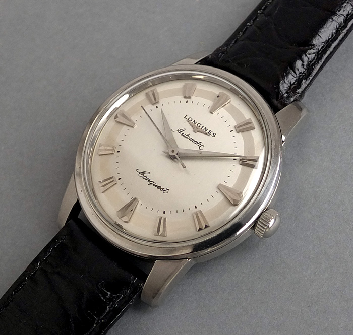 SOLD LONGINES CONQUEST Automatic Gents Vintage Watch 1955 .