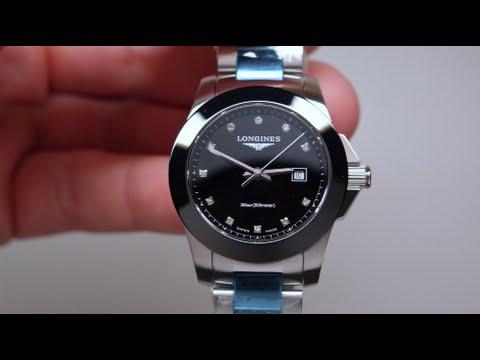 Longines Conquest Black Diamond Womens Watch Review Model: L3 .