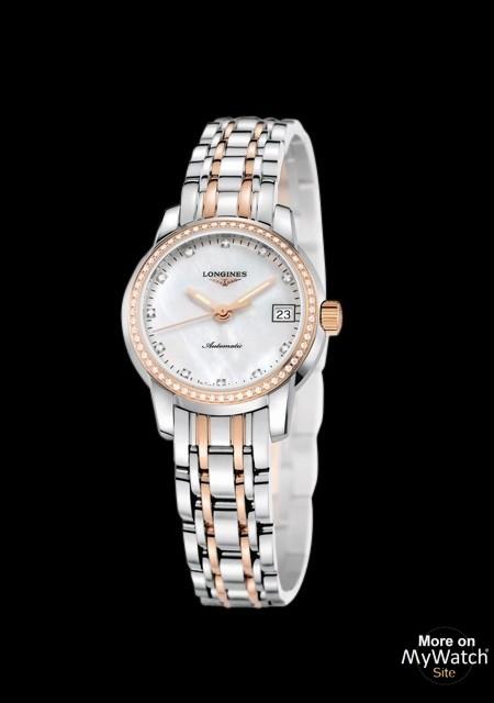 Watch Longines The Longines Saint-Imier - Pink Gold - Diamon