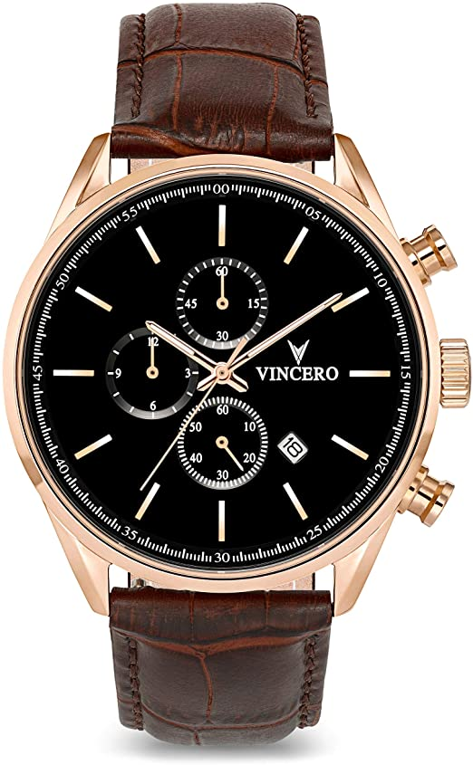 Amazon.com: Vincero Luxury Men's Chrono S Wrist Watch — Rose Gold .