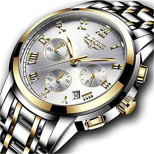 Amazon.com: Watches Mens Full Steel Quartz Analog Wrist Watch Men .