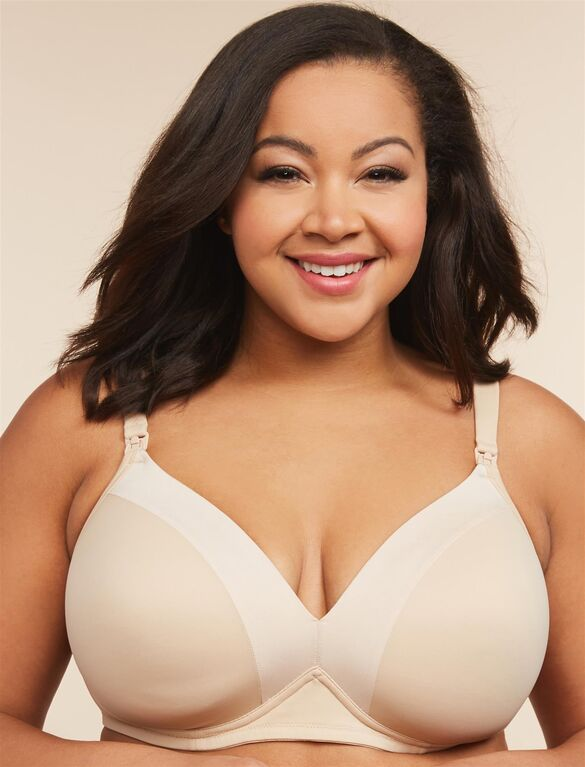 Plus Size Full Coverage Wireless Maternity and Nursing Bra .