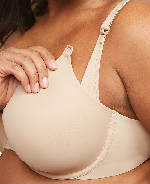 Motherhood Maternity Full Coverage Back Smoothing Nursing Bra .
