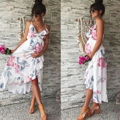 Summer Women Mother Casual Floral Falbala Pregnant Dress For .