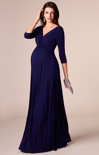 Willow Maternity Gown Long Eclipse Blue - Maternity Wedding .