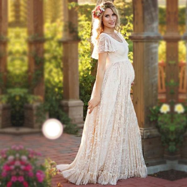 Maternity Dress Maternity Photography Props White Lace Sexy Maxi .