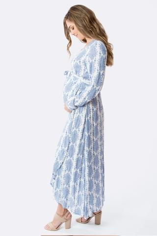 Prettiest blue maternity dress - perfect for a baby boy baby .