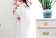 This maternity gown is gorgeous and perfect for a baby shower or .