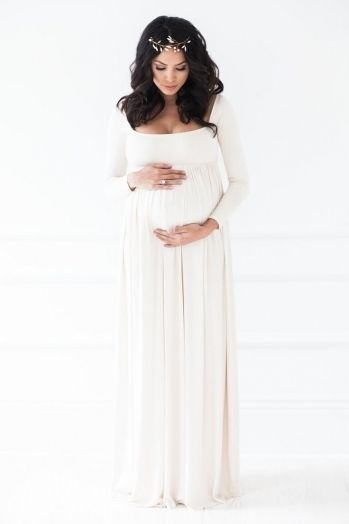 White Maternity Dress For Baby Shower | Maternity dresses for baby .