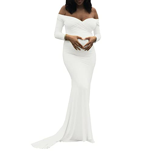 White Maternity Dresses for Baby Shower: Amazon.c