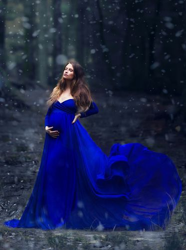 Camille Gown | Blue maternity dress, Royal blue maternity dress .