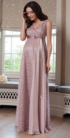 Thea Maternity Gown Long Blush - Maternity Wedding Dresses .