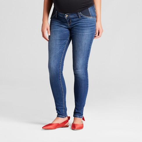 Maternity Inset Panel Jeggings - Isabel Maternity By Ingrid .