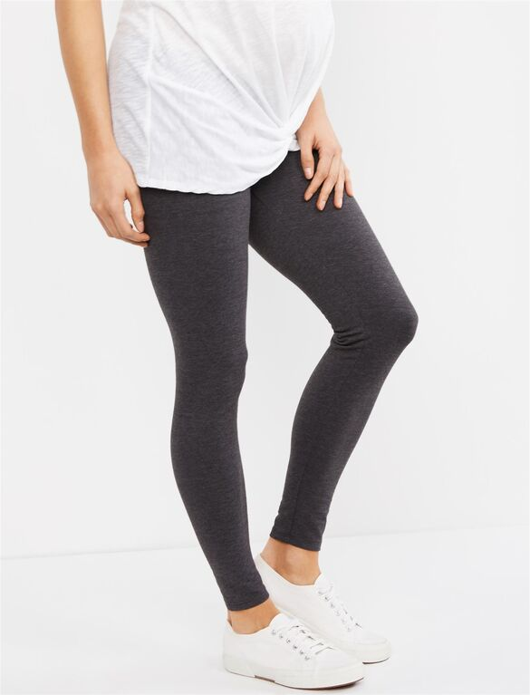 Essential Stretch Secret Fit Belly Heathered Maternity Leggings .