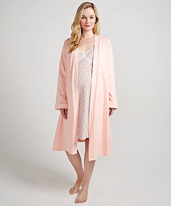 Maternity Nightdress and Robe Set (With images) | Maternity .