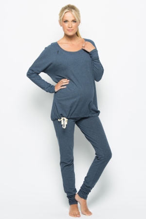 the coziest maternity pajamas | Maternity lounge wear, Maternity .