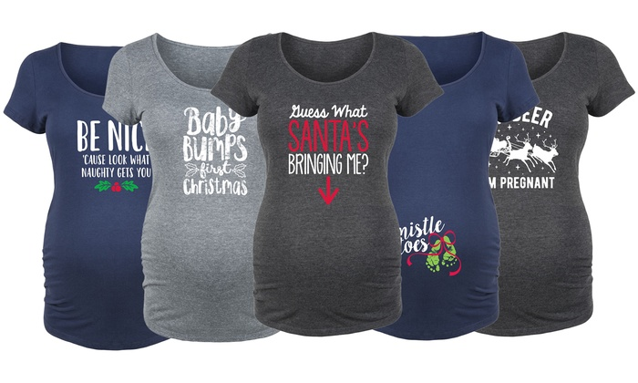Up To 43% Off on Women's Holiday Maternity Tees | Groupon Goo