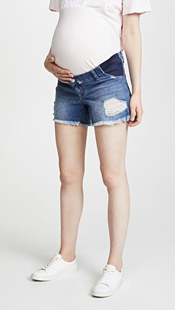 DL1961 Karlie Boyfriend Maternity Shorts | SHOPB
