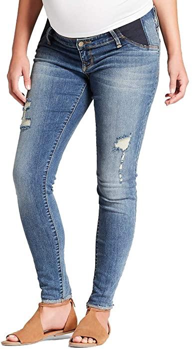 Ingrid & Isabel Women's Maternity Skinny Denim Jeans with Side .