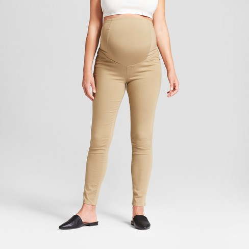 Maternity Crossover Panel Skinny Jeans - Isabel Maternity By .