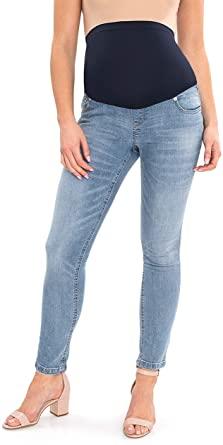Amazon.com: Great Expectations Maternity Skinny Jeans LARGE: Clothi